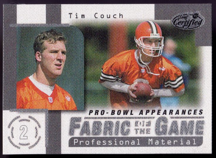 CLEVELAND BROWNS 1999 LEAF CERTIFIED FABRIC OF THE GAME TIM COUCH #D 0859/1000 #ClevelandBrowns