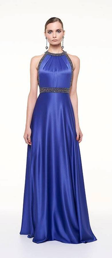 Vestido de festa para madrinha ou formanda azul