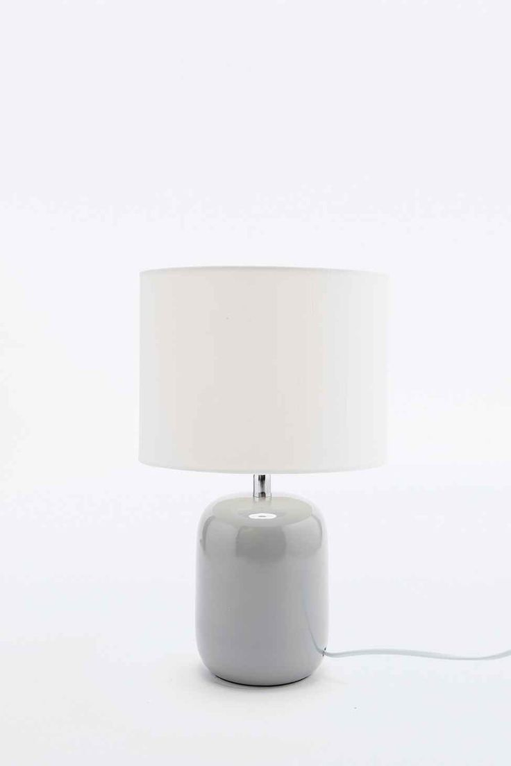 Fenda Table Lamp EU Plug in Grey - Urban Outfitters