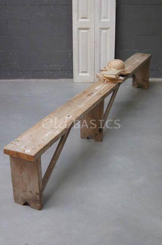 Deze kan Jeroen ook zelf wel maken... Banken en stoelen - Landelijke klepbanken houten banken stoelen krukjes eetkamerstoelen - Old-BASICS - Webwinkel