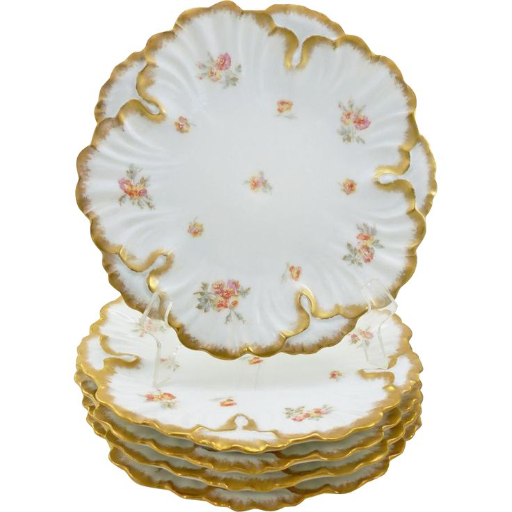 Antique Limoges Plates circa 1896-1905  Lewis Straus & Sons