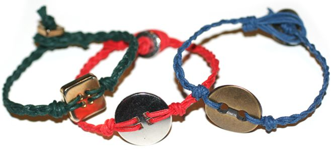 button braclets