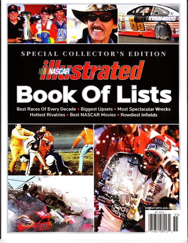 NASCAR Illustrated Book of Lists 2015 Special Collector's Edition W/ Photos