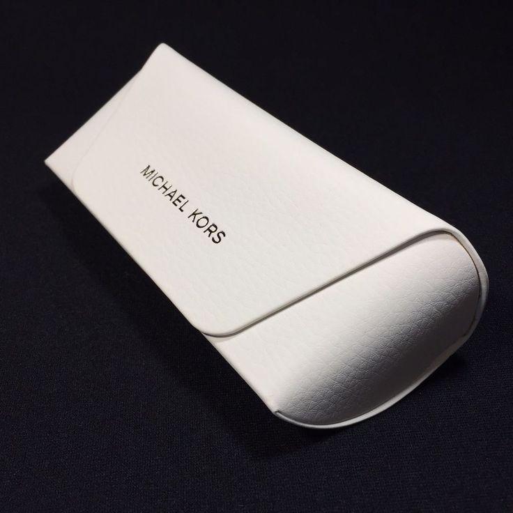 MICHAEL KORS White Eyeglass Sunglass SMALL Hard Case ONLY w/Cloth