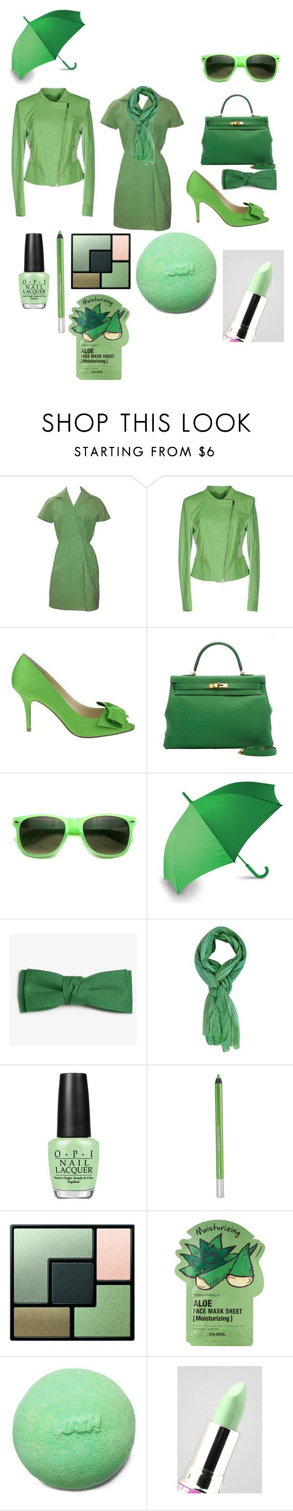"""""""Kelly Green"""" by krisalynj ❤ liked on Polyvore featuring KI6? Who Are You?, Lord & Taylor, LEXON, OPI, Urban Decay, Yves Saint Laurent, Tony Moly and Lime Crime"""