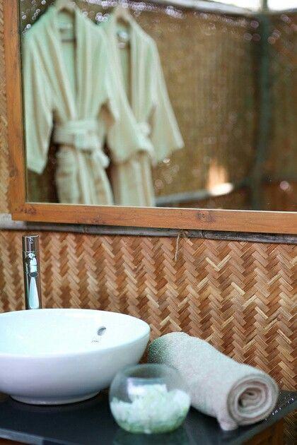 Natural rustique outdoor bathroom. La Mangrove Goa. Chic Tipis & River Lounge. South-Goa. India. www.lamangrovegoa.com