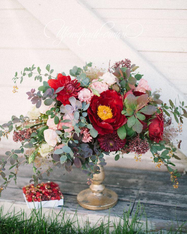 Композиции на столы гостей на свадьбе