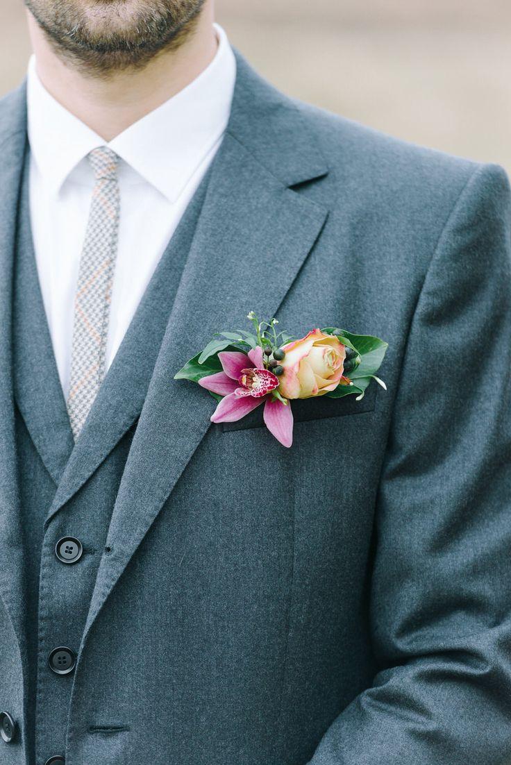 172 best wedding boutonnière images on Pinterest | Wedding ...