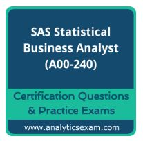 We at AnalyticsExam.com, have maintained A00-240 exam questions which are the asked in real SAS Certified Statistical Business Analyst Using SAS 9 - Regression and Modeling Certification. SAS BA Certification questions for SAS Statistical analytics. http://www.analyticsexam.com/sas-certification/a00-240-sas-certified-statistical-business-analyst-using-sas-9-regression-and