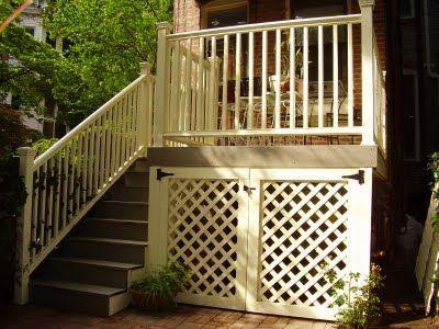 underneath deck ideas | Under the Deck Storage Access | Patio & Deck ideas