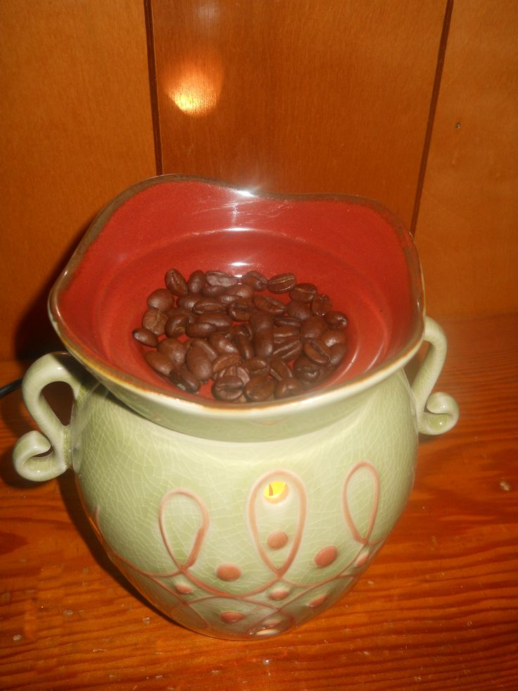 "Put coffee beans in the ""cup"" of a tart warmer instead of a tart.  Smells AWESOME!!"
