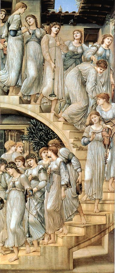 The Golden Stairs, 1876-80 (Tate Gallery) ~ by Edward Burne Jones (1833-98)