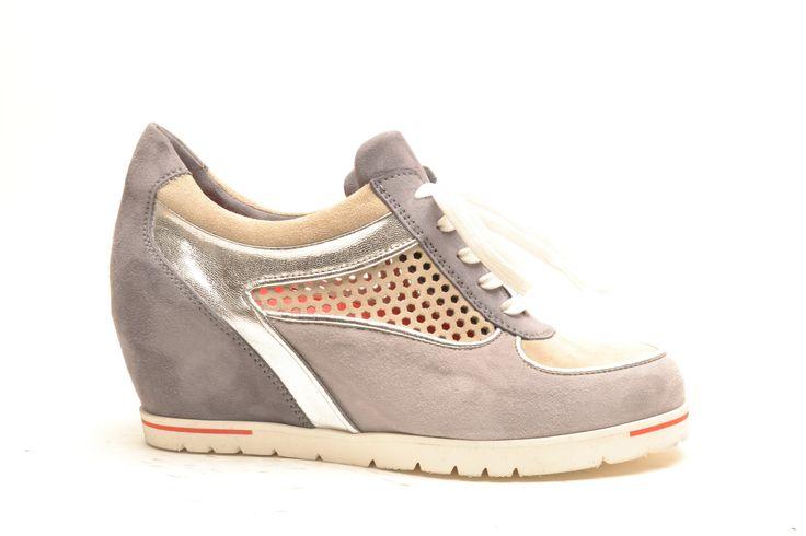 #pasderouge #shoes #summer #suede  #wedge #snaker #silver