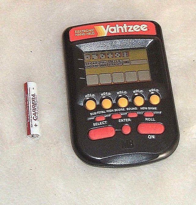Yahtzee 1995 Hand Held Electronic Dice Game by Milton Bradley W/ Free Battery #MiltonBradley