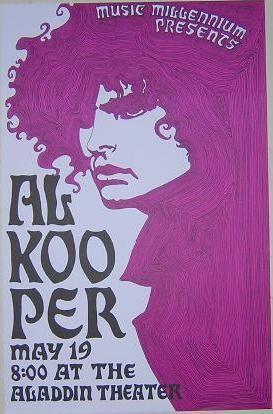 Al Kooper Rare Aladdin Theater Portland Concert Poster