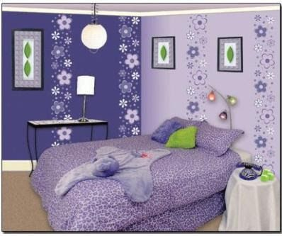 decorar las paredes del dormitorios con pegatinas de flores - como decorar las paredes de mi habitación de chica adolescente mujer.JPG (398×333)