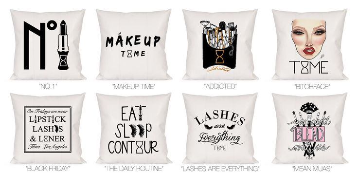 "MAKEUP DECORATIVE PILLOW Buy me: ""addicted"""