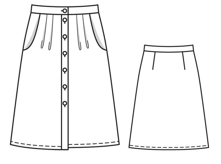 модные юбки и выкройки в картинках сбора трава сохраняет