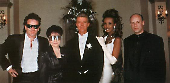 Bono, Yoko Ono, David Bowie, Iman And Brian Eno At Iman's