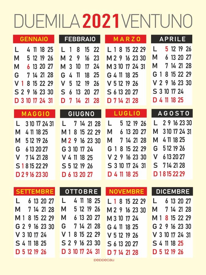 Calendario 2021 annuale nel 2020 | Calendario, Biglietto