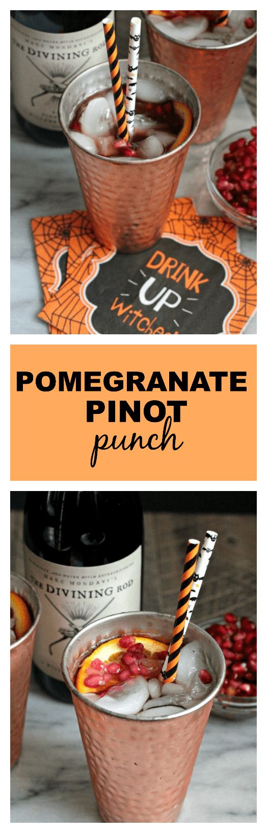Pomegranate Pinot Punch | casadecrews.com