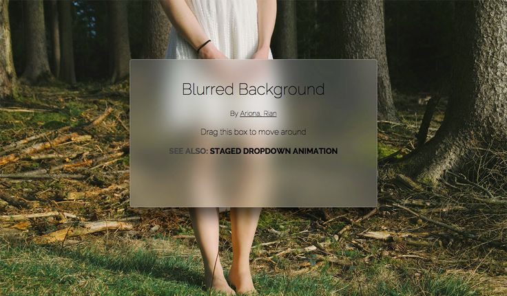 CSS blurred background
