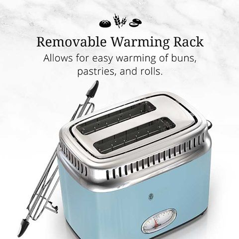 Retro Style 2 Slice Toaster Blue Stainless Steel Toaster Retro Stainless Steel Toaster