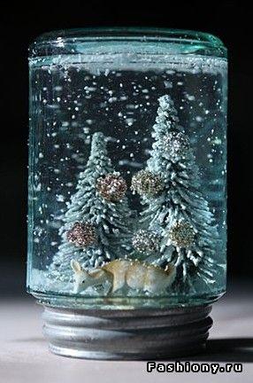 Снежный шар - сувенир к Новому году своими руками / снежный шар купить