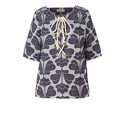 Orla Kiely | USA | clothing | SALE - Tops | Damask Flower Jacquard Top…