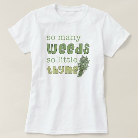 So Many Weeds Funny Gardening Baby Doll Tee - tap to personalize and get yours