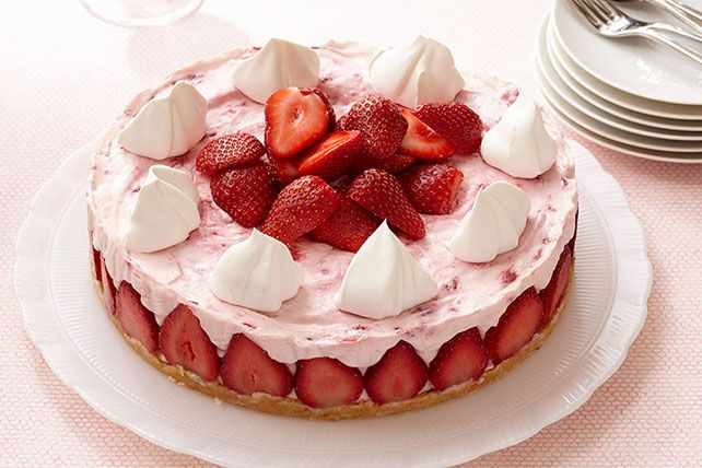 Top a citrus cheesecake with whipped topping in this strawberry cheesecake recipe. You'll wonder where this strawberry cheesecake recipe has been hiding!