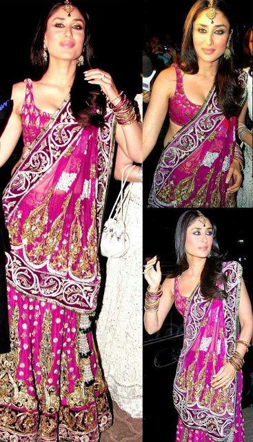 Kareena Kapoor in Pink Designer Lehenga