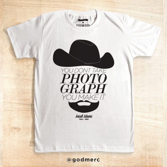 Ansel Popular Photographer Qoute White and Misty   Oleh Godmode Store