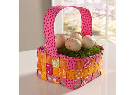 Woven Easter Basket free pattern sewn with Coats Dual Duty XP sewing thread.
