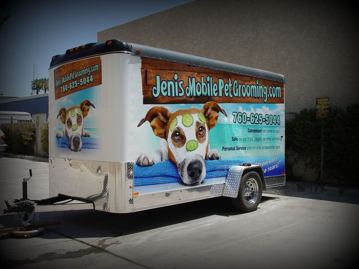 This one's for the dogs!! http://www.DesertWraps.com #PalmDesert #Trailer #TrailerWrap