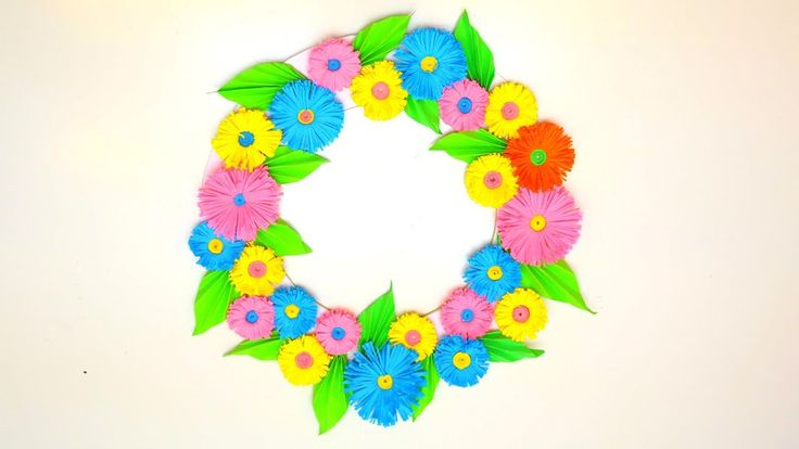 DIY WALL HANGING WITH PAPER FLOWERS   Wall Hanging Craft Ideas   EMMA DI...