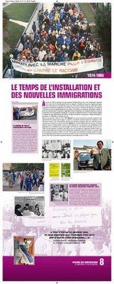 N°8 : Le temps de l'installation et des nouvelles immigrations. A partir de 1976, la politique de regroupement familial féminise alors une immigration jusque-là très masculine. De nouvelles générations de migrants s'installent, alors que les migrants portugais sont majoritaires en Picardie (avec vingt-cinq mille ressortissants). © Groupe de recherche Achac