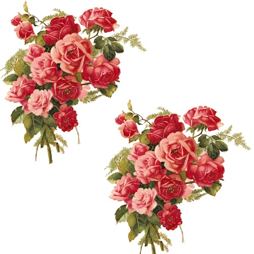 NEW! PinK & ReD TeA RoSe CoRNeR BouQueTs ShaBby WaTerSLiDe ...