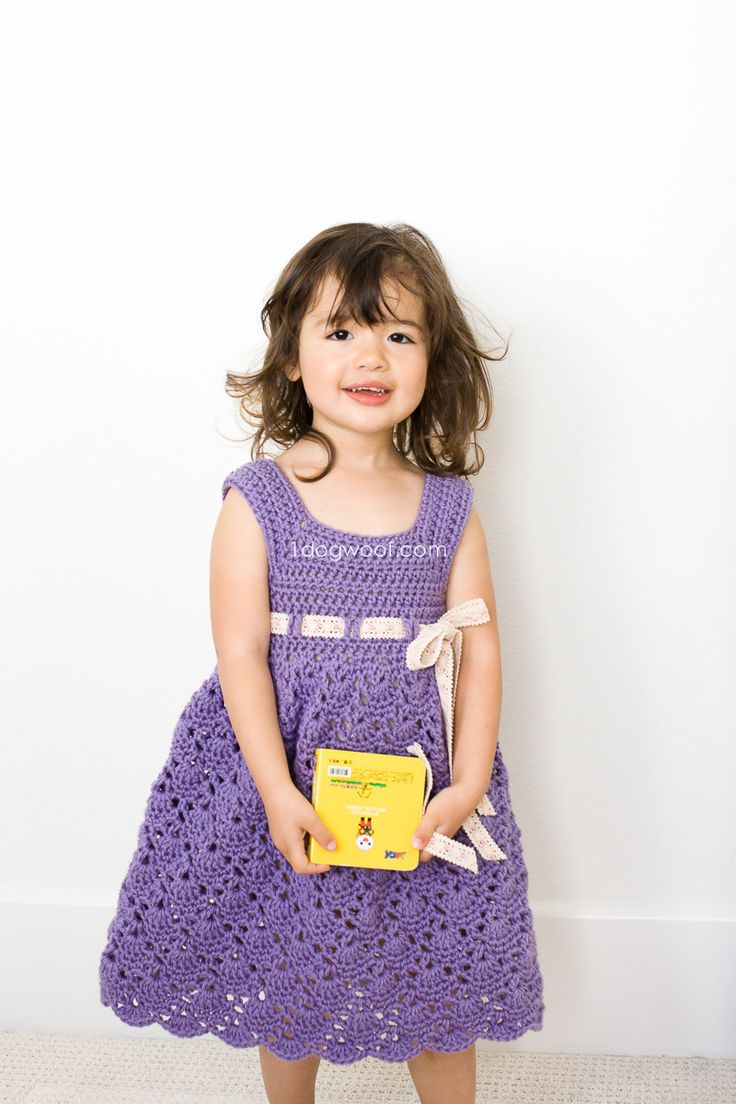 Beautiful crochet dresses for kids trendy - Crochet Purple Princess Dress