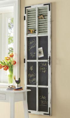 black chalk board / top shutter country door catalog