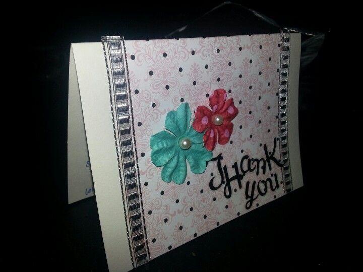 Elegant polka dots series thank you card