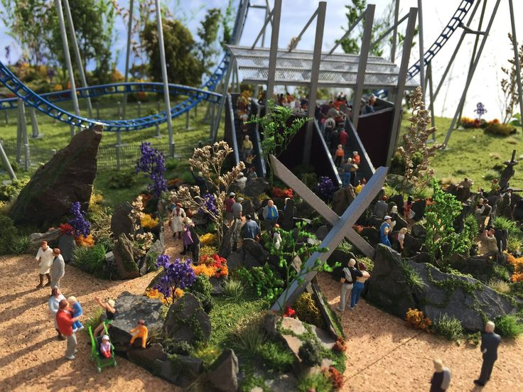 the 623 best images about theme park rides scale models on