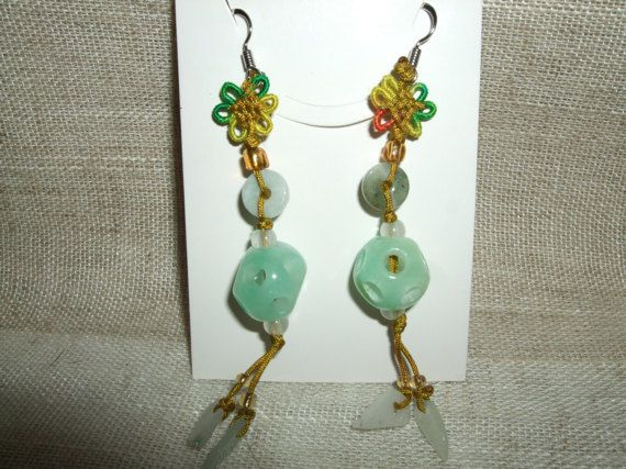 Guarda questo articolo nel mio negozio Etsy https://www.etsy.com/it/listing/515590957/orecchini-pendenti-in-pietra-dura-giada