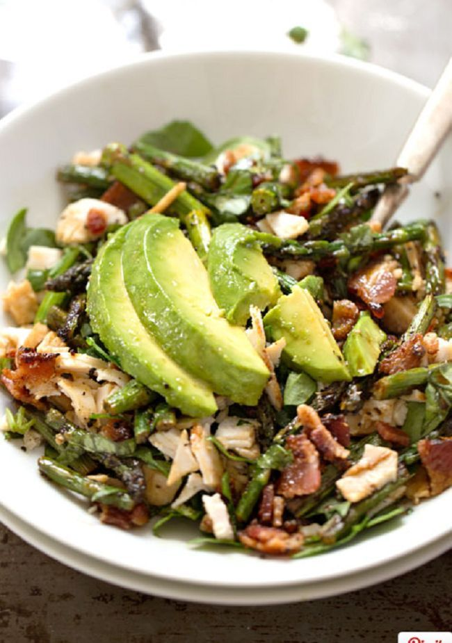 Chicken Bacon Avocado Salad - my new favorite!  Be sure to check your ingredients on your bacon