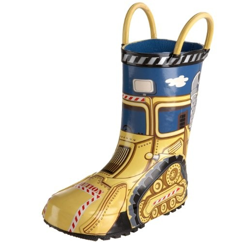 $27.25-$29.95 Baby Give your little helper the super fun Western Chief Kid at Work rain boots for stormy days. Waterproof rubber upper in a pull on rain boot style with a round toe Digger and construction-themed accents throughout Double pull on handles Soft fabric lining, cushioned insole Seam sealed, with a traction patterned outsole