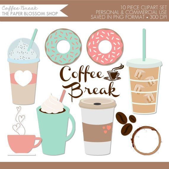 Coffee Clipart Coffee Clip Art Coffee Break Clipart Donut Clipart