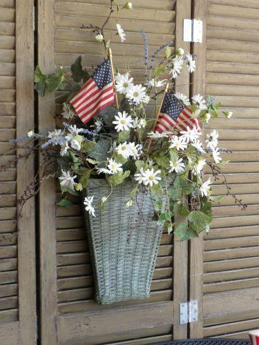 Daisies & Flags Basket Wreath...