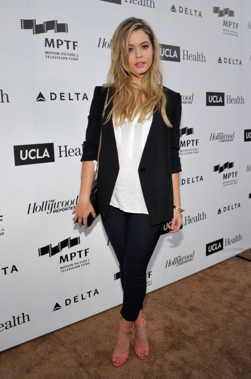 celebstarlets:  4/5/14 -Sasha Pieterse at the 3rd Annual Reel Stories, Real Lives Benefiting The Motion Picture & Television Fund in Hollywood.  Celebs, fashion and models. X