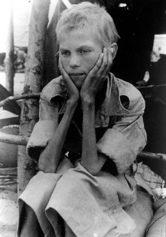 Warsaw, Poland, A child suffering from severe malnutrition. Walter Kostecki, A Catholic Polish man, was a member of the Polish underground, and assisted the rescue of Jews from Warsaw ghetto in Poland. He served in the Polish navy in exile (its center was located in London), and volunteered to parachute on the land of Poland and serve as a messenger for the Polish Government in Exile. As a part of this duty, He transferred microfilms of photographs from Poland.