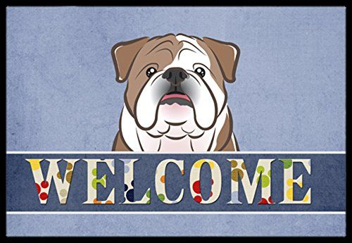 Best Kictchen Rugs | Carolines Treasures BB1405MAT English Bulldog Welcome Indoor or Outdoor Mat 18 x 27 Multicolor -- More info could be found at the image url. Note:It is Affiliate Link to Amazon.